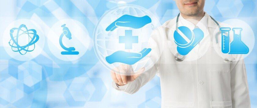 Los puntos médicos en iconos de la salud