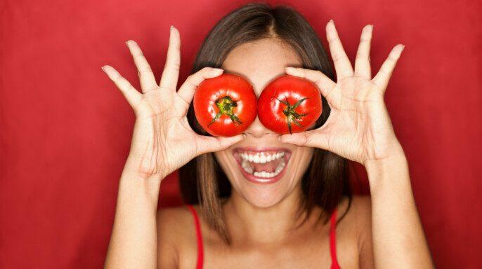 Mujer de tomate
