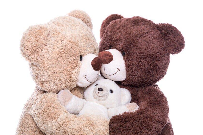 Feliz familia de osos de peluche