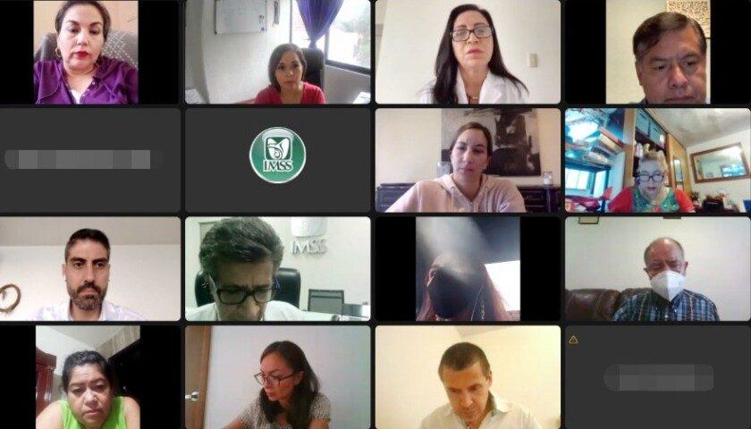 videoconferencia de la reunión entre autoridades del Instituto y padres de menores con cáncer