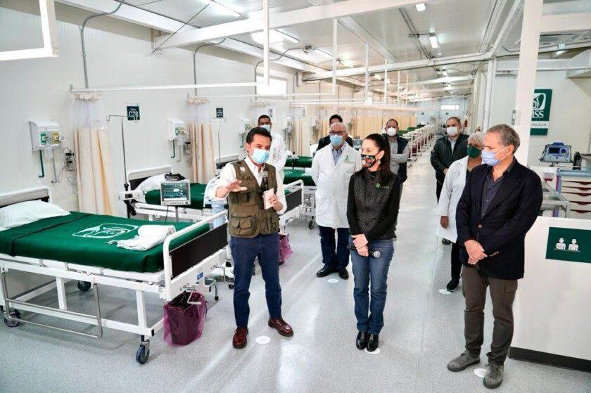 IMSS y Gobierno de la CDMX supervisan CAT de Infectología Tlatelolco para   atención de COVID-19 en el Valle de México