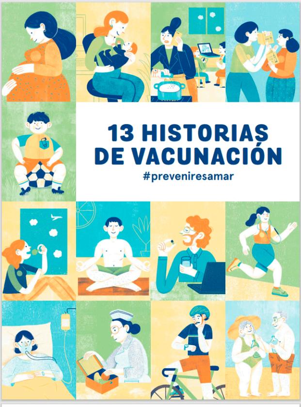 Portada de 13 Historias de Vacunación