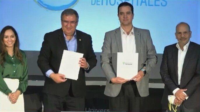 Conferencia de prensa Alianza Universidad Tecmilenio y Consorcio Mexicano de Hospitales