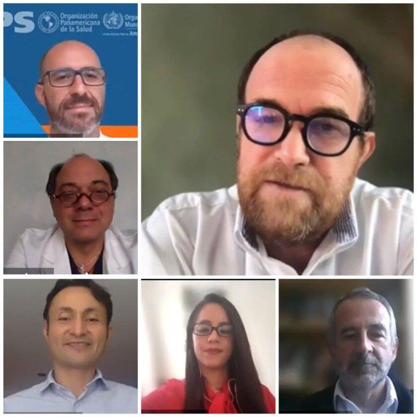conferencia de prensa virtual, convocada por la Organización Panamericana de la Salud (OPS) y coordinada por la organización civil Salud Justa MX y la coalición México Salud-Hable