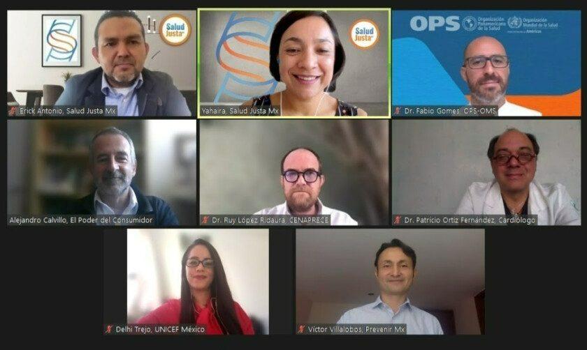 Video conferencia Organizaciones urgen al Senado regular las Grasas Trans